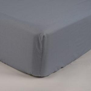 Sotto lenzuola con elastici percalle colore grigio