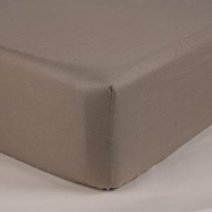 Sotto lenzuola con elastici percalle colore sabbia