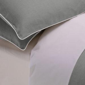 Copripiumino London cotone percalle colore grigio