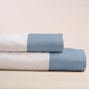 Coppia asciugamani con bordo avio