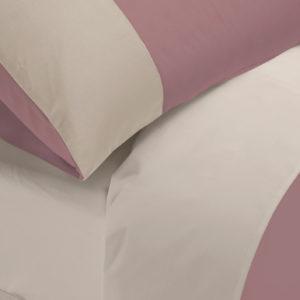 Copripiumino City cotone pelleovo bicolore rosa dust e grigio chiaro