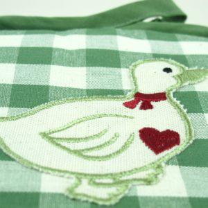 Presine quadrate Duck quadretto verde