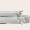 Coppia asciugamani di spugna da bagno con pizzo