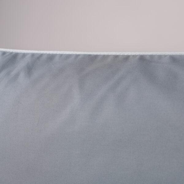 Federa per guanciale percalle grigio bordino bianco