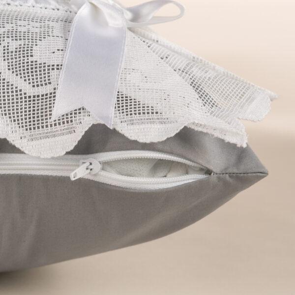 Federa cuscino arredamento di cotone e con pizzo