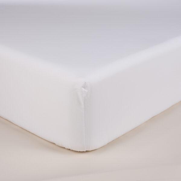 Sotto lenzuolo con elastici pelleovo bianco