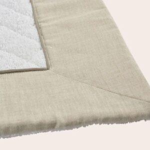 Tappeto da bagno spugna trapuntata con bordo di lino