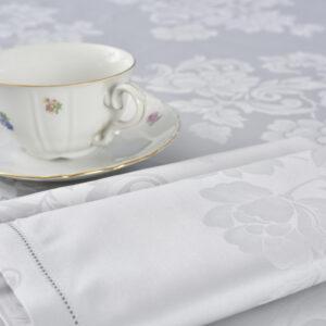 Tovaglia fiandra elegante e raffinata colore grigio perla