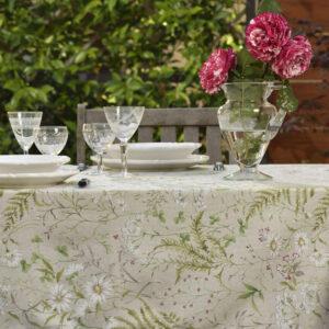 Tovaglia misto cotone e poliestere disegno primavera fiori